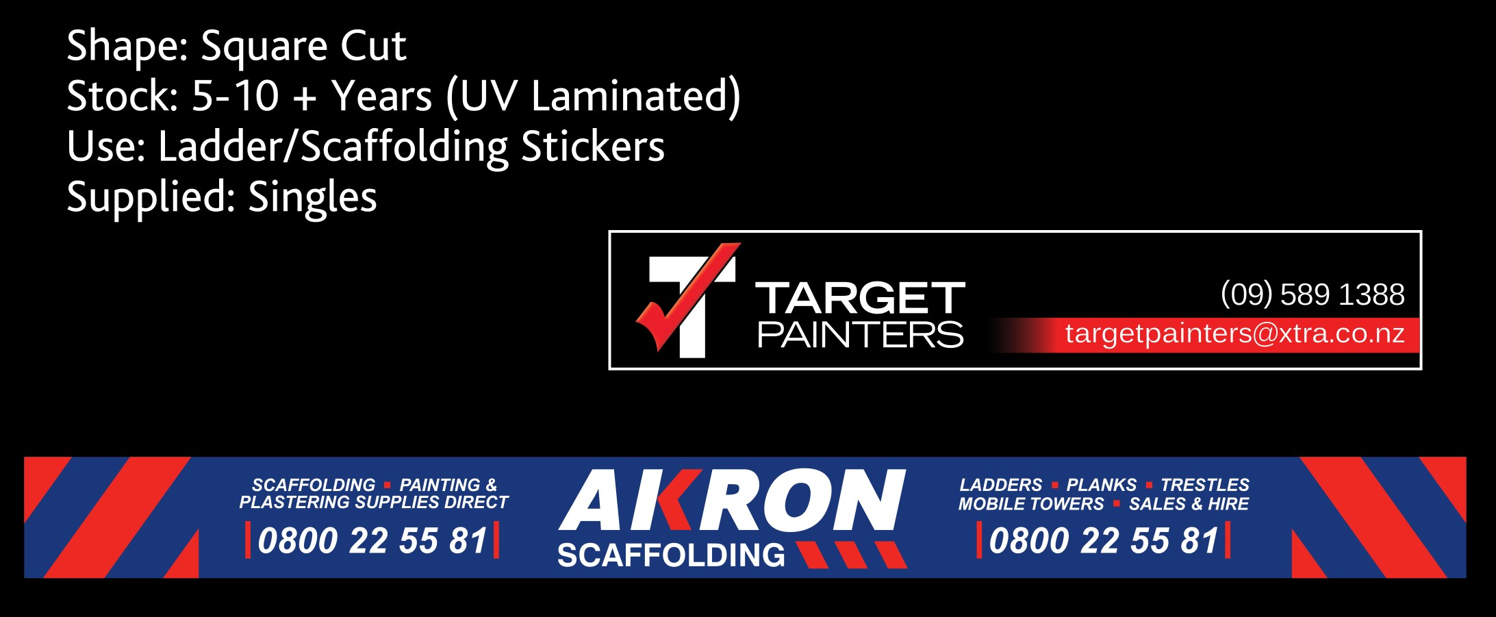 sticky stickers and akron - scaffolding stickers