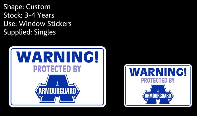 custom stickers nz for armourguard