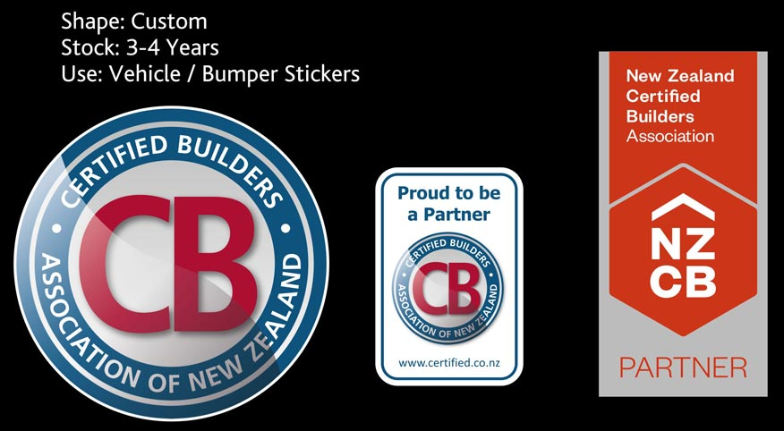 new zealand certified builders custom stickers nz
