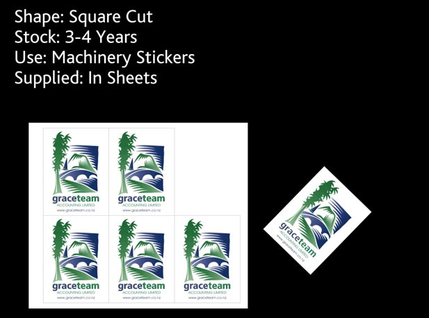 sticky stickers and grace team - machinery stickers