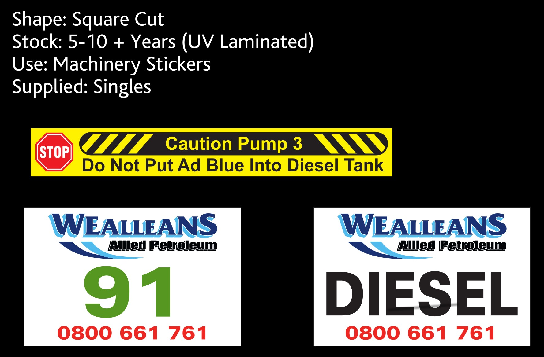 sticky stickers and wealleans - machinery stickers